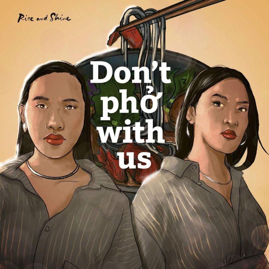 Vanessa und Minh Thu illustriert vor einer Phở-Schüssel